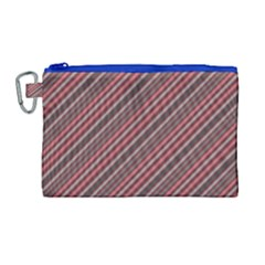 Brownish Diagonal Lines Canvas Cosmetic Bag (large)
