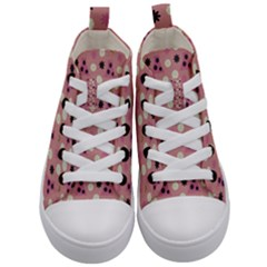 Mauve Dress Kid s Mid Top Canvas Sneakers