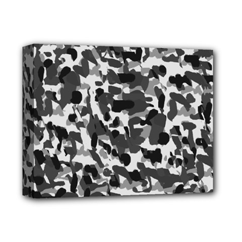 Grey Camo Deluxe Canvas 14  X 11  by snowwhitegirl