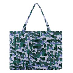 Blue Camo Medium Tote Bag by snowwhitegirl