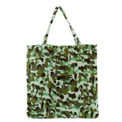 Brownish Green Camo Grocery Tote Bag by snowwhitegirl