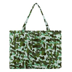Green Camo Medium Tote Bag by snowwhitegirl