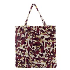 Red Camo Grocery Tote Bag by snowwhitegirl