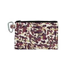 Red Camo Canvas Cosmetic Bag (small) by snowwhitegirl