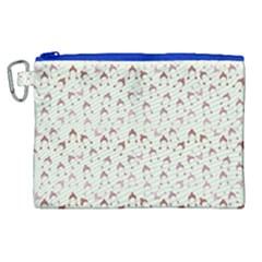 Little Winter Hats Blue Canvas Cosmetic Bag (xl) by snowwhitegirl