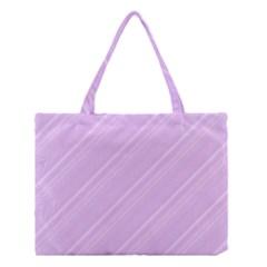Lilac Diagonal Lines Medium Tote Bag by snowwhitegirl