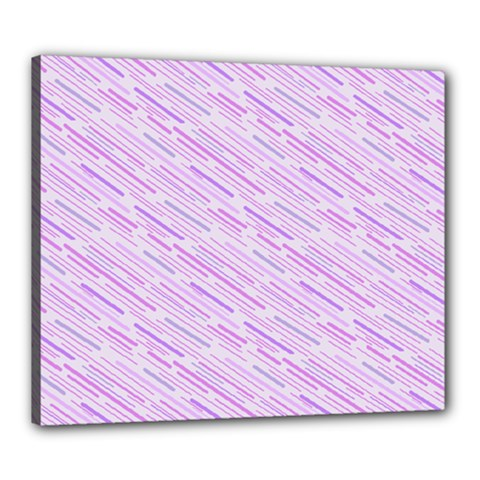 Silly Stripes Lilac Canvas 24  X 20  by snowwhitegirl
