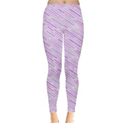 Silly Stripes Lilac Leggings  by snowwhitegirl