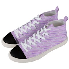 Silly Stripes Lilac Men s Mid Top Canvas Sneakers by snowwhitegirl