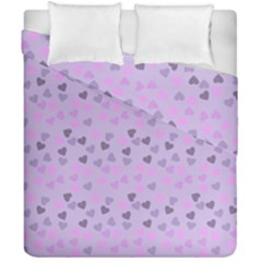 Heart Drops Violet Duvet Cover Double Side (california King Size) by snowwhitegirl