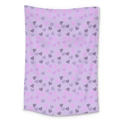 Heart Drops Violet Large Tapestry by snowwhitegirl