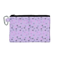 Heart Drops Violet Canvas Cosmetic Bag (medium) by snowwhitegirl
