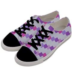 Geometric Squares Men s Low Top Canvas Sneakers by snowwhitegirl