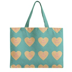 Teal Cupcakes Zipper Mini Tote Bag by snowwhitegirl