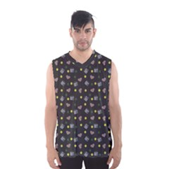 Dark Grey Milk Hearts Men s Basketball Tank Top by snowwhitegirl