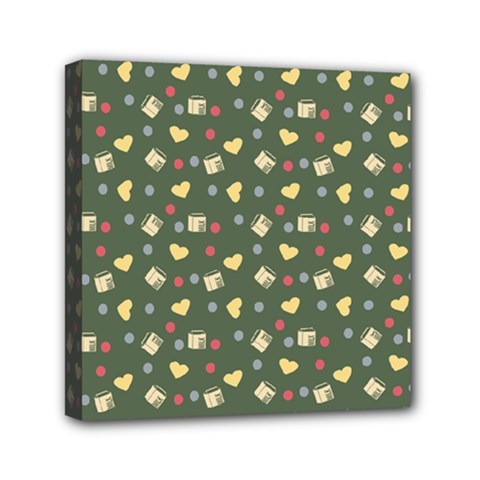 Green Milk Hearts Canvas Travel Bag by snowwhitegirl