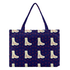 Navy Boots Medium Tote Bag by snowwhitegirl