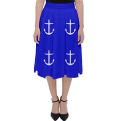 Royal Anchors Folding Skater Skirt