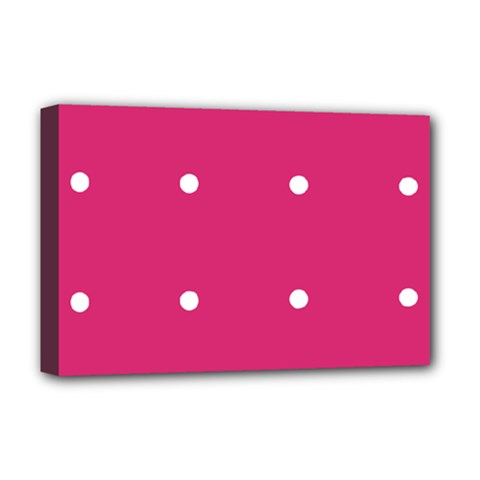 Small Pink Dot Deluxe Canvas 18  X 12   by snowwhitegirl