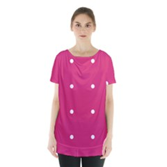 Small Pink Dot Skirt Hem Sports Top by snowwhitegirl