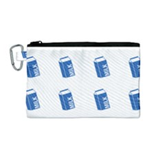 Milk Carton Canvas Cosmetic Bag (medium) by snowwhitegirl