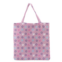 Milk And Donuts Pink Grocery Tote Bag by snowwhitegirl