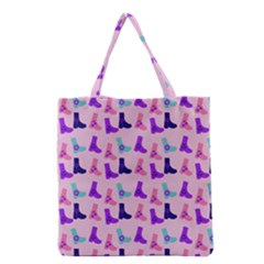 Candy Boots Grocery Tote Bag by snowwhitegirl