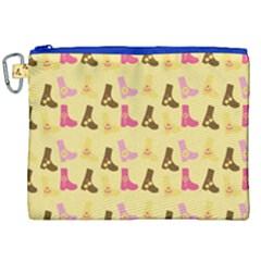 Beige Boots Canvas Cosmetic Bag (xxl) by snowwhitegirl