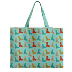 Blue Orange Boots Medium Tote Bag by snowwhitegirl