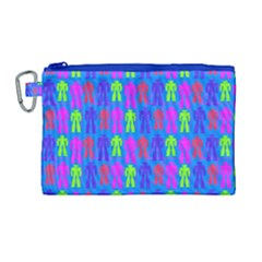 Neon Robot Canvas Cosmetic Bag (large) by snowwhitegirl