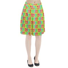 Colorful Robots Pleated Skirt by snowwhitegirl