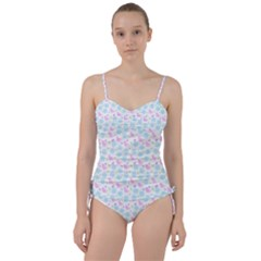 Cats And Flowers Sweetheart Tankini Set