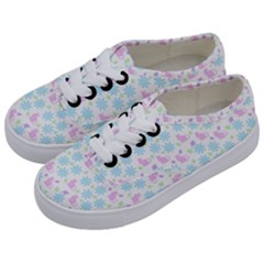 Cats And Flowers Kids  Classic Low Top Sneakers by snowwhitegirl