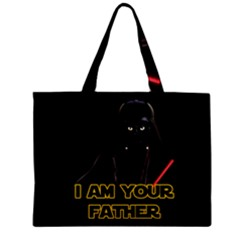 Darth Vader Cat Zipper Mini Tote Bag by Valentinaart