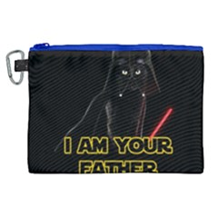 Darth Vader Cat Canvas Cosmetic Bag (xl) by Valentinaart