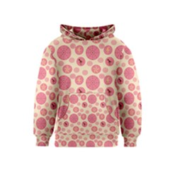 Cream Retro Dots Kids  Pullover Hoodie by snowwhitegirl