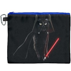 Darth Vader Cat Canvas Cosmetic Bag (xxxl) by Valentinaart