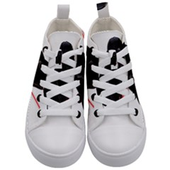 Darth Vader Cat Kid s Mid Top Canvas Sneakers
