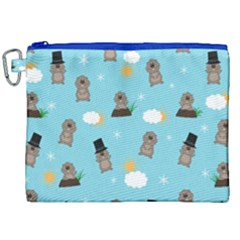 Groundhog Day Pattern Canvas Cosmetic Bag (xxl) by Valentinaart