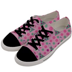 Green Dress Pink Men s Low Top Canvas Sneakers by snowwhitegirl
