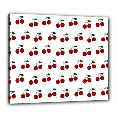 Cherries Canvas 24  X 20  by snowwhitegirl
