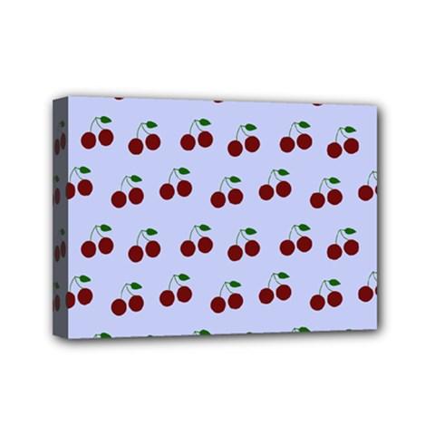Blue Cherries Mini Canvas 7  X 5  by snowwhitegirl