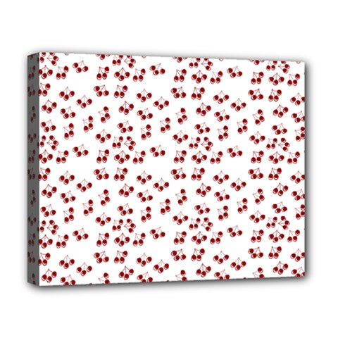 Red Cherries Deluxe Canvas 20  X 16   by snowwhitegirl