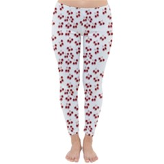 Red Cherries Classic Winter Leggings by snowwhitegirl