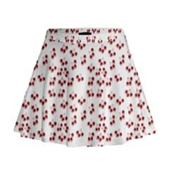 Red Cherries Mini Flare Skirt by snowwhitegirl