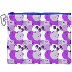Purple Cherry Dots Canvas Cosmetic Bag (xxxl) by snowwhitegirl