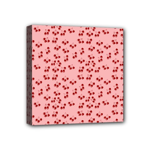 Rose Cherries Mini Canvas 4  X 4  by snowwhitegirl