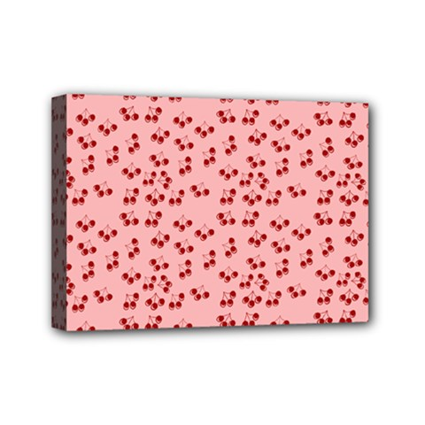Rose Cherries Mini Canvas 7  X 5  by snowwhitegirl