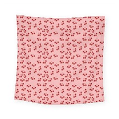 Rose Cherries Square Tapestry (small) by snowwhitegirl