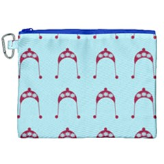 Blue Flower Red Hat Canvas Cosmetic Bag (xxl) by snowwhitegirl